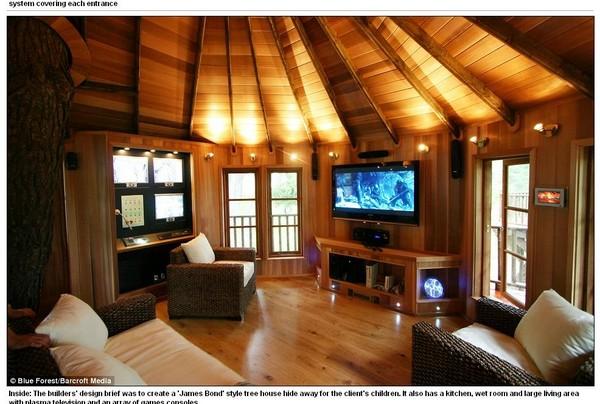 根据公司向外界公布的图片显示,007式安全屋内的厨房,浴室,客厅等