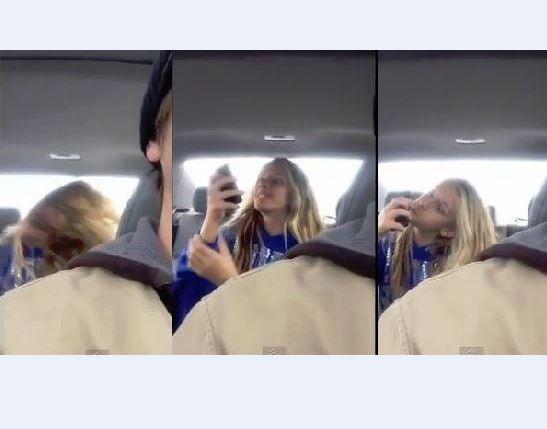 好看的偷拍自拍电影_beckham)的男子,在开车途中,偷拍女儿在后座疯狂自拍鬼脸影片,画面23