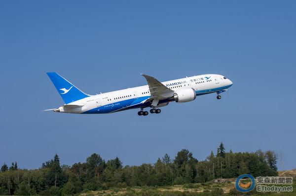 厦门航空桃园-福州航线每日往返一个航班,目前采用737-800.