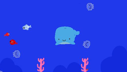 深海手绘鲸鱼插画