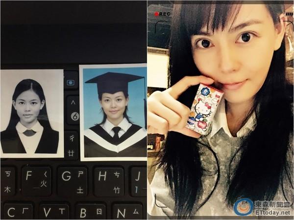 刘香慈首po纯天然学生大头照 嫩脸「跟电视里一样!」