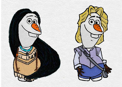 《 冰雪奇缘》 雪宝大举入侵迪士尼公主与王子的世界!图片