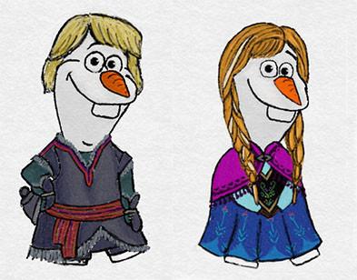 《 冰雪奇缘》 雪宝大举入侵迪士尼公主与王子的世界!