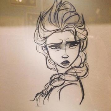 爱莎公主手绘效果图