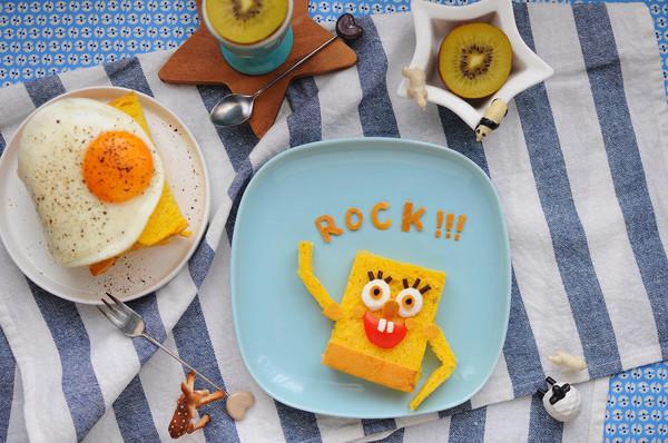 动手做超萌海绵宝宝早餐 可爱让人舍不得吃
