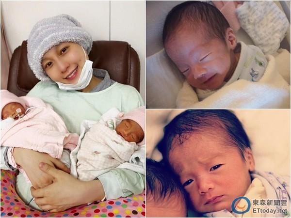 1月15日喜获双胞胎「大小熊猫」睿飞,睿翔,近来重心全都放在宝贝儿子