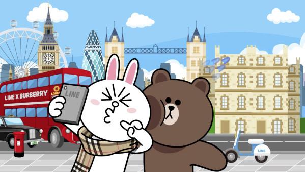 兔兔,熊大围上burberry耍甜蜜 免费贴图超可爱