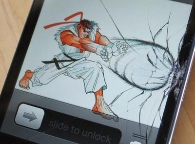 手機螢幕裂開..發揮創意變專屬桌面