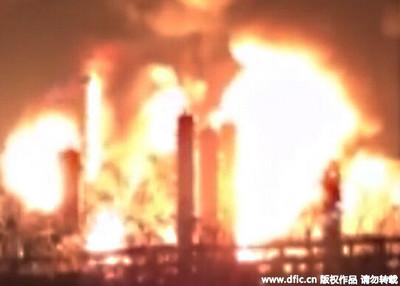 陳由豪PX廠爆炸兩度撲滅又復燃 附近1萬4000居民轉移