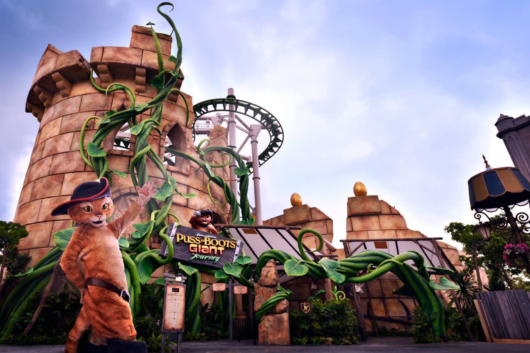 新加坡環球影城「鞋貓劍客歷險記」主題懸吊飛車啟用  ETtoday旅遊雲  ETtoday新聞雲
