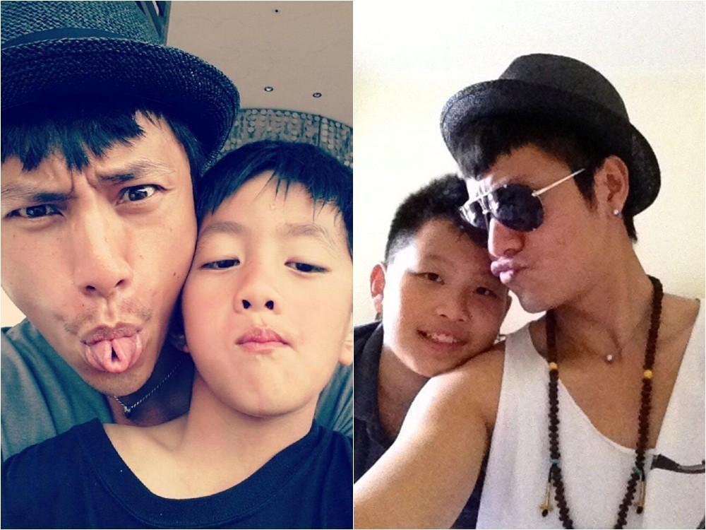 陳坤公開有兒子後,不定期會在微博分享親子合照,也公開澄清過兒子是自己親生的。(圖/取自陳坤微博)