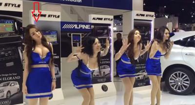 泰國車模舞步錯亂..奶壓全場就夠看啦