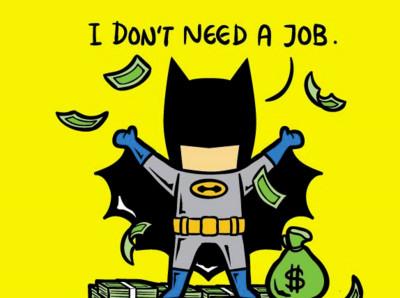 超級英雄當打工仔,蝙蝠俠職業超機車