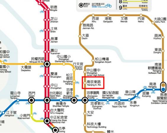 捷運文湖線與松山線交會的「南京東路站」將更名為「南京復興站」。(圖/取自台北大眾捷運公司)