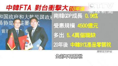 中韓FTA恐衝擊台灣 鄧振中:貨貿若趕上進度可補救