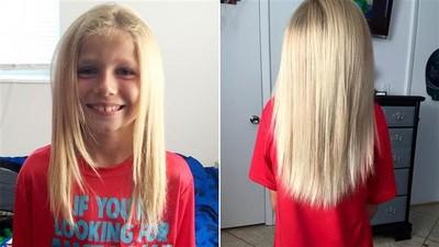 不怕被笑!正太堅持25公分金髮,捐給病童找回勇氣