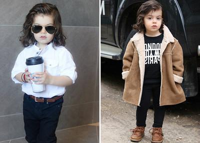 時尚要從小啟蒙 2歲男童帥壓一堆歐霸