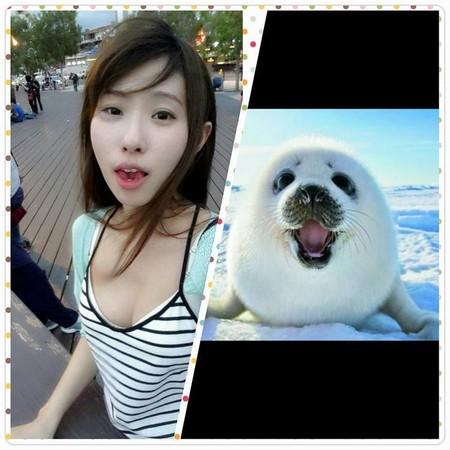 正妹,巨乳,32F,Lucy Lee,清涼照,海豹
