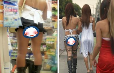 女孩夏日清涼穿著,連內褲都懶得穿了