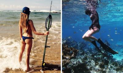性感海洋女獵人,用魚槍是她愛海的方式