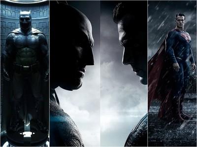 蝙蝠俠班艾佛列克披戰袍 飛身撂倒反派英雄「超人」