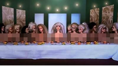 芭比亂入經典名畫…最後的晚餐變最後的裸體?