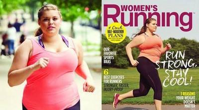 胖妹登慢跑雜誌封面,審美革命讓讀者飆淚