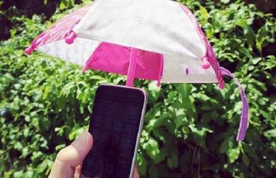 幫手機撐支小雨傘,日本人連這種地方都貼心呀