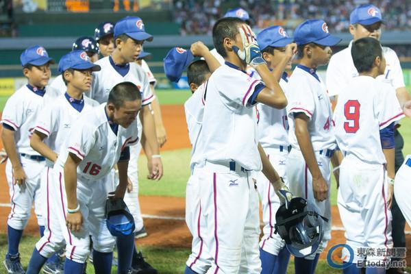 U12世界盃棒球賽 中華台北VS美國。(圖/記者季相儒攝)