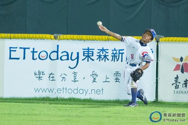 U12世界盃棒球賽 中華台北VS美國。楊鈞(圖/記者季相儒攝)