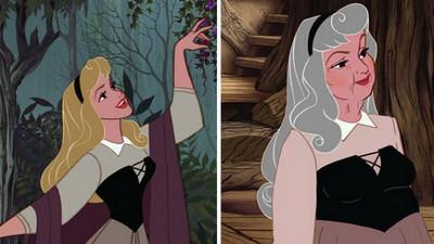 當公主變成歐巴桑..法令紋深得我不忍看