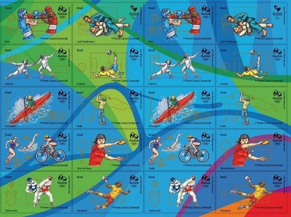 里約奧運倒數 紀念幣、郵票亮相