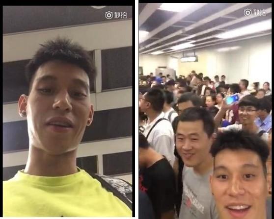 林書豪北京擠地鐵 錄影紀念球迷揮手入鏡