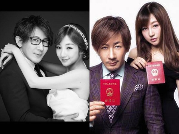 劉謙和王希怡閃婚3個月後產1子。(圖/取自王希怡臉書、翻攝自新浪微博)