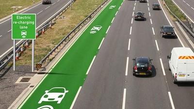 電動車無線充電車道,邊開邊充電...要開到世界盡頭嗎