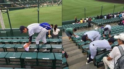 輸比賽不能輸原則!甲子園賽後球員走上看台…擦椅子