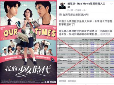影評人質疑《少女》封鎖北市票房 轟台灣電影倒退20年