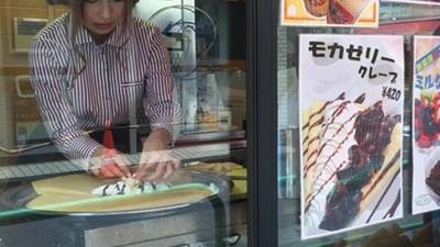 前AV女優(誰?!)轉職賣可麗餅,網友們又幻想炸棚了