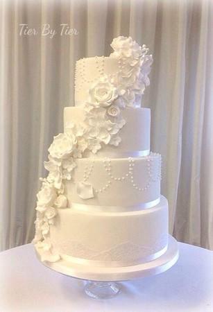 ▲原本典雅的結婚蛋糕,轉過來變成……。(圖/翻攝自Tier By Tier臉書)