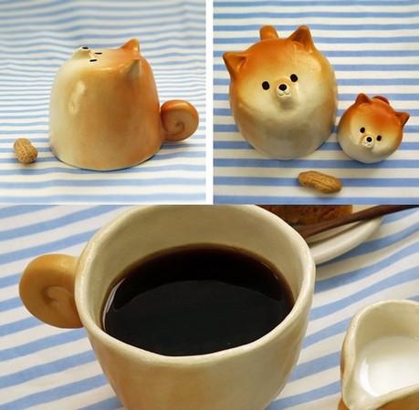 麻糬系貓狗餐具,這樣吃飯都要融化了啦!