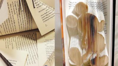 動手一摺舊書變身藝術品,翻開驚喜跳出來