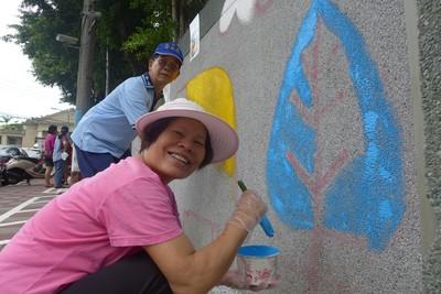 板橋435藝文區圍牆彩繪添童趣