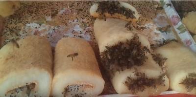 挑戰膽子的「蜂麻糬」,內餡裡有活蜜蜂