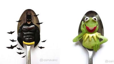 舌尖大小藝術,小心一口把蝙蝠俠給吃了
