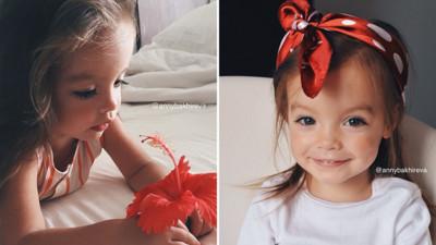 俄羅斯2歲小蘿莉賣萌,擺起Pose不輸超模