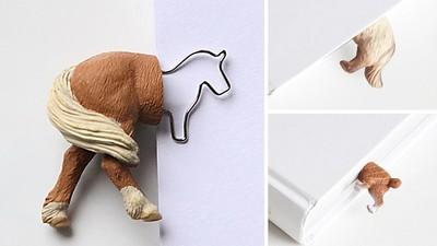 小動物美尻書籤夾,好想搔牠屁屁啊❤
