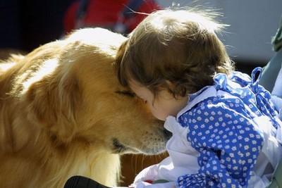寶寶遛狗初體驗..狗狗:我不走就是不走!