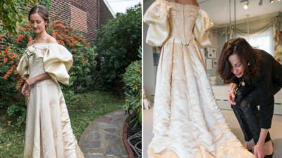 穿上120年祖傳婚紗,感謝曾曾曾曾祖母好眼光