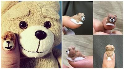 指尖上的熊麻吉~毛茸茸指彩太療癒啦