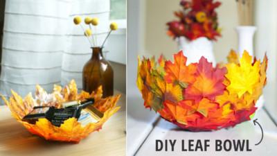 拾起秋風刮下的落葉..3步驟DIY「楓葉碗」